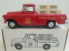 1955 Chevy Cameo Pickup Truck Bank Massey Harris Tractor 1/25 scale