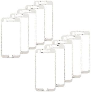 10X White iPhone 8 LCD Holder bezel plastic mid frame w. adhesive