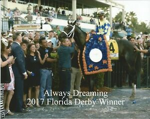 """2017 - ALWAYS DREAMING in the Florida Derby Winners Circle - 10"""" x 8"""""""