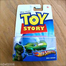 Disney PIXAR Toy Story REX RIDER Hot Wheels diecast Mattel INTERNATIONAL PACKAGE