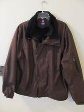 Chaps Ralph Lauren Full Zip Fleece Lined Men's Brown Jacket Size Large