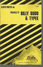 Cliff Notes On Melville's Billy Budd & Typee Mary Ellen Snodgrass PB 1997