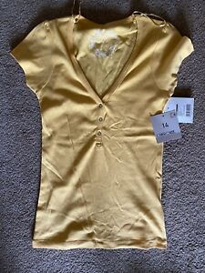 BNWT Tesco Cherokee Yellow Short Sleeved Top Size 14