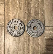 "(2) VINTAGE Dan Lurie 2 1/2 lbs Plates For 1"" Bar"