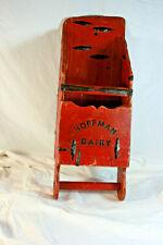 Antique Red Wood Feed Scoop Hoffman Dairy Primitive