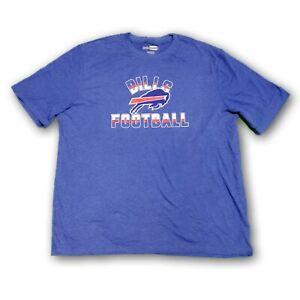 Buffalo Bills Football Majestic NFL Men's Heather Blue Short Sleeve T-shirt