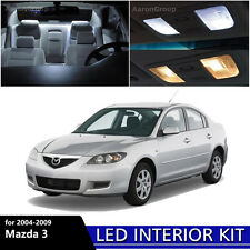 7PCS White Interior LED Light Package kit for 2004 - 2009 Mazda 3 Mazda3