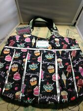 Betseyville By Betsey Johnson Canvas Sweet Treats Tote Large Bag Cake Ice Cream