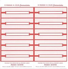 Juke Box Title Strips Red On White Paper