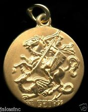 Saint George Religious Pendent 12k Gold Filled