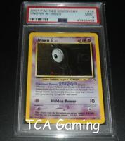 PSA 9 MINT Unown A 14/75 Neo Discovery HOLO RARE Pokemon Card