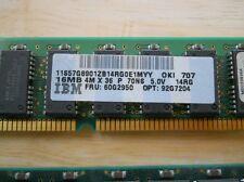 IBM memory SIMM RS6000 pSeries 16MB 57G8901 60G2950 92G7204 70ns 72 pin - Tested