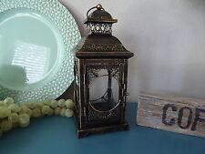 Oli Rubbed Bronze Ornate Intricate Metal Lantern  ~ Tea-Light Candle Holder