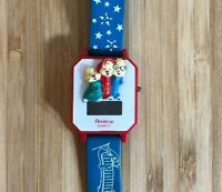 VTG Alvin And The Chipmunks Digital Wrist Watch Blue Spell Out Stars Armitron