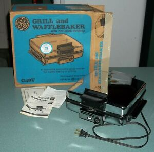 Vintage GE General Electric Waffle Grill Baker Maker in Box G48T