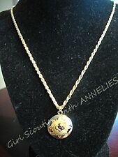 NECKLACE Girl Scout AWARD, Lovely GIFT Gold Boston Twist Chain NEW in BOX