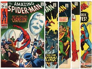 Amazing Spider-Man SILVER/EARLY BRONZE AGE LOT 80 82 83 87 89 1st apps! Marvel