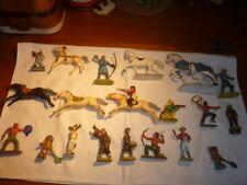 lot figurines plastiques +50 starlux cyrnos elastolin jim  beffoid  JSF etc