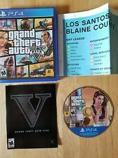 Grand Theft Auto V (Sony PlayStation 4, 2014) Complete GTA 5 Five PS4