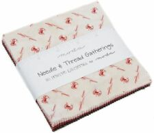 "Needle & Thread Moda Charm Pack 42 100% Cotton 5"" Precut Fabric Quilt Squares"