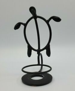 Metal Turtle Tea Light Votive Candle Holder Black