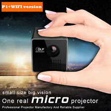 P1+ Mini DLP LED Portable Projector Pocket Micro Size 1080P Home Movie Thea
