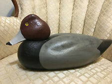 Red headed Drake hand carved duck decoy
