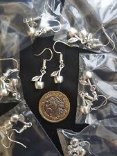 Tibetan Silver Small 3D Cherry Fruit Earrings