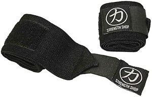 "Strength Shop Hercules Wrist Wraps - BLACK - 30cm 60cm 12"" 24"" Weightlifting"