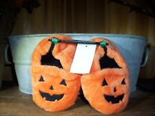 HALOWEEN INFANT SLIPPERS PUMPKIN THEME SIZE 6 COLOR ORANGE BABY SHOES SOFT NEW