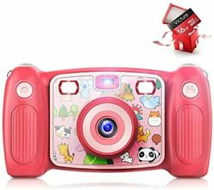 Kids Camera Digital Rechargeable Selfie Action Camera 1080P HD 12MP With 2 Inch