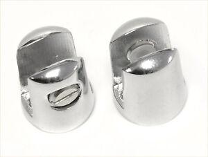 2/4/8 Glass Small Shelf Support Chrome Plated Brackets