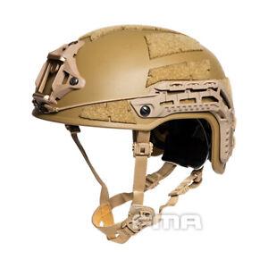 FMA Airsoft Caiman Helmet w/ NVG Shroud Rail Hunting Military Airsoft L/XL Gear