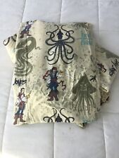 Disney Pirates of the Caribbean Twin 3 Flat 2 Fitted Dead Men's Chest Sheets Vtg