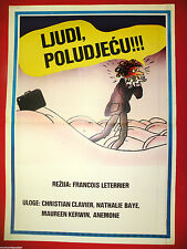 RAT RACE 1980 FRENCH CHRISTIAN CLAVIER NATHALIE BAYE RARE EXYU MOVIE POSTER