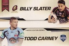 NRL 2012 RUGBY LEAGUE - Billy Slater & Todd Carney Case Card LE-2 (ESP) #NEW