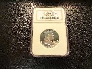 1963 FRANKLIN SILVER HALF DOLLAR NGC PF-67  PROOF ULTRA CAMEO  BRILLANT-OFFERS