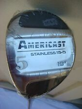NEW Americast Stainless 15-5, 19 degree, #5 Wood with Graphite Shaft Golf Club