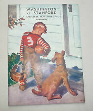 WASHINGTON HUSKIES 8 STANFORD INDIANS 5  FOOTBALL WORST STANFORD TEAM EVER 1939