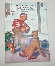 WASHINGTON HUSKIES 8 STANFORD INDIANS 5  FOOTBALL WORST STANFORD TEAM EVER 1939
