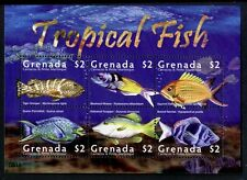 POISSON TROPICAL souvenir Feuille de 6 timbres, MNH Grenade Grenadines 2009