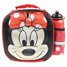 16e2ecd371c Minnie Mouse 3D Thermal Insulated Kids School Lunch Bag With Bottle Drink  Set