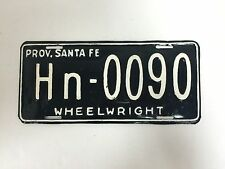Rare Wheelwright Argentina Automobile License Plate Santa Fe - USED - #F-8
