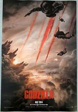 GODZILLA 2014 poster 11.5x17  Elizabeth Olsen Bryan Cranston