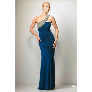 ROSE NOIR #203 - Diamonte Evening Gown (Black size 12)