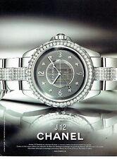 PUBLICITE ADVERTISING 027  2012   montre J 12 chronomatic par Chanel