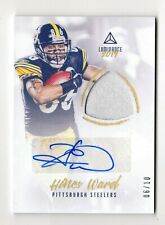 HINES WARD NFL 2018 PANINI LUMINANCE JERSEY AUTOGRAPHS PRIME GOLD #/10 (STEELERS
