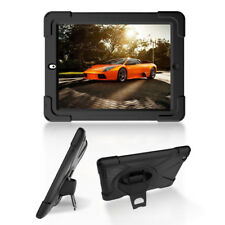 Heavy Duty PC+Silicone Hybrid Case Protective Case with Handstrap for iPad 2 3 4
