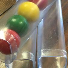 "CLOSEOUT save 60% - 250 semi-clear FDA Plastic Square Storage Tubes, 8"" w/ caps"