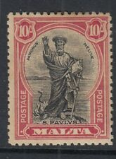 MALTA 1926-27  10s Lightly mounted mint SG 172 Cat.£65